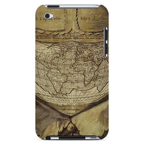 Ancient Map Head - Geeks Designer Line Map Series Hard Case for Apple iPod Touch 4