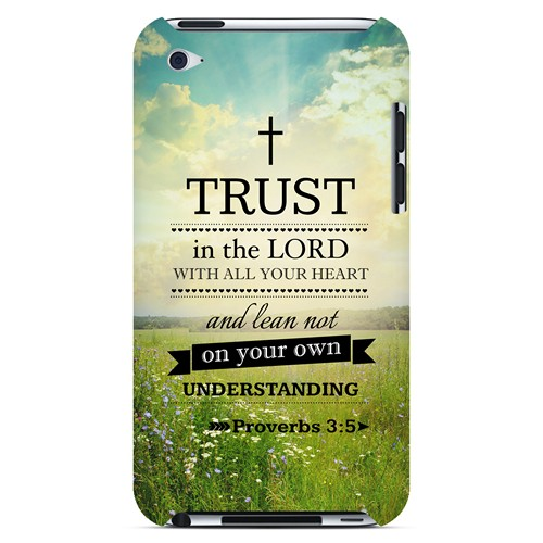 Proverbs 3:5 - Geeks Designer Line Bible Series Hard Case for Apple iPod Touch 4
