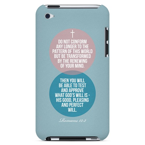 Romans 12:2 - Geeks Designer Line Bible Series Hard Case for Apple iPod Touch 4