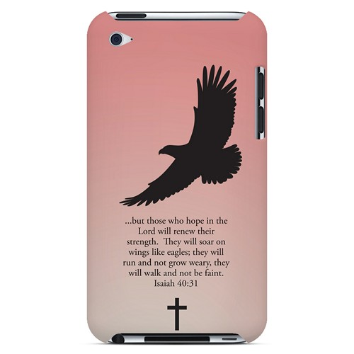 Isaiah 40:31 - Wisp Pink - Geeks Designer Line Bible Series Hard Case for Apple iPod Touch 4