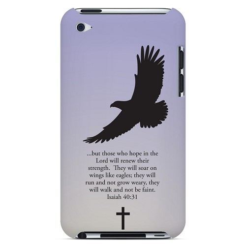 Isaiah 40:31 - Sleepy Grape - Geeks Designer Line Bible Series Hard Case for Apple iPod Touch 4