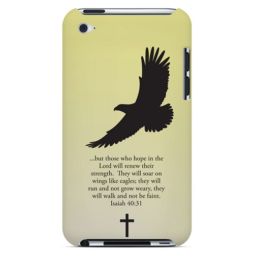 Isaiah 40:31 - Sunset Yellow - Geeks Designer Line Bible Series Hard Case for Apple iPod Touch 4