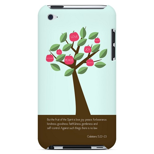 Galatians 5:22-23 - Geeks Designer Line Bible Series Hard Case for Apple iPod Touch 4