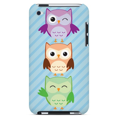 Happy Owl Pals - Geeks Designer Line Owl Series Hard Case for Apple iPod Touch 4