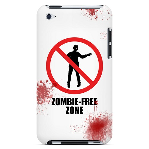 Zombie-Free Zone - Geeks Designer Line Apocalyptic Series Hard Case for Apple iPod Touch 4