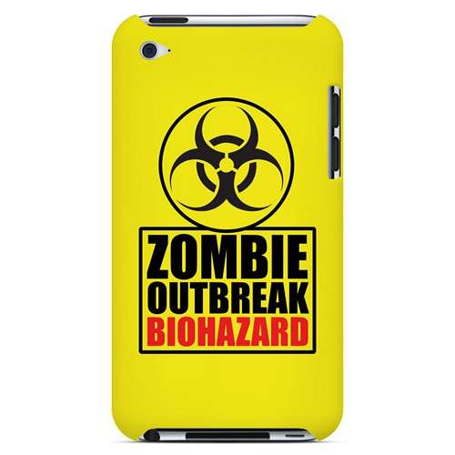 Zombie Outbreak Biohazard - Geeks Designer Line Apocalyptic Series Hard Case for Apple iPod Touch 4