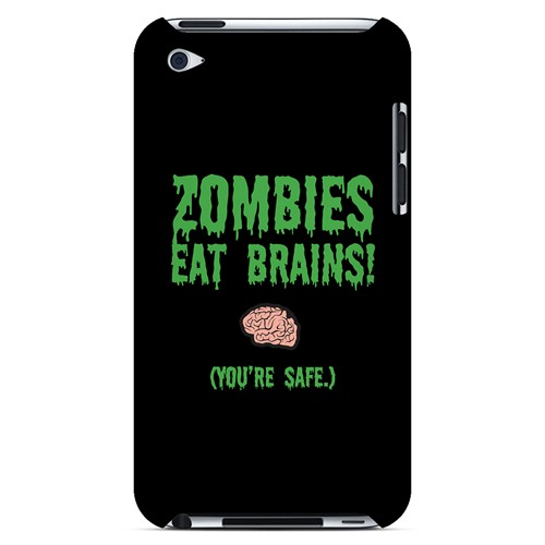 Zombies Eat Brains - Geeks Designer Line Apocalyptic Series Hard Case for Apple iPod Touch 4