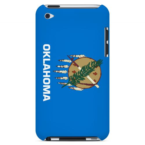 Oklahoma - Geeks Designer Line Flag Series Hard Back Case for Apple iPod Touch 4