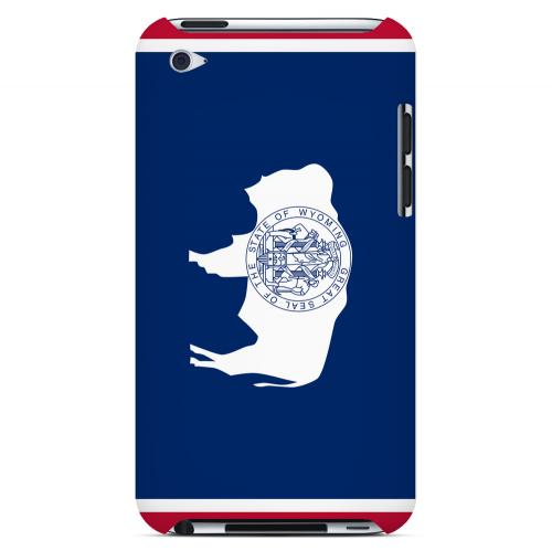 Wyoming - Geeks Designer Line Flag Series Hard Back Case for Apple iPod Touch 4