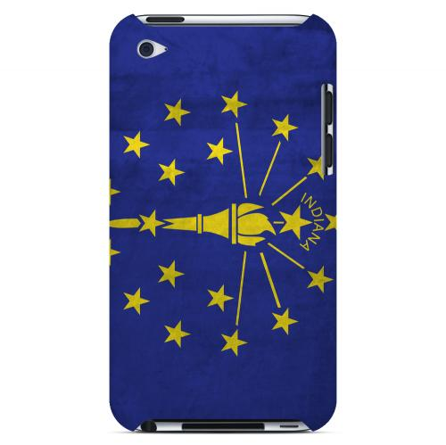 Grunge Indiana - Geeks Designer Line Flag Series Hard Case for Apple iPod Touch 4