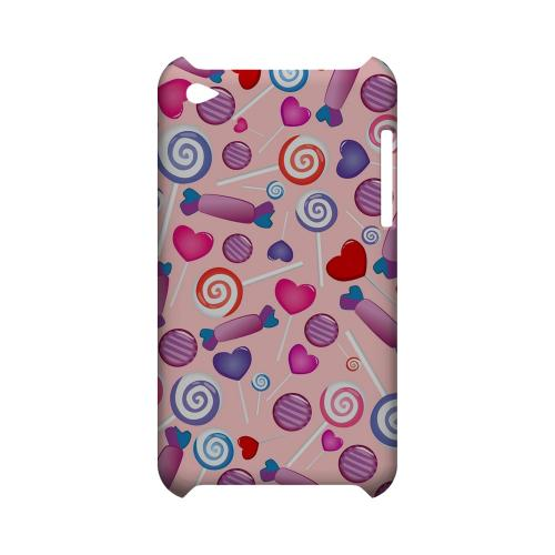 Assorted Candy Geeks Designer Line Candy Series Slim Hard Back Cover for Apple iPod Touch 4