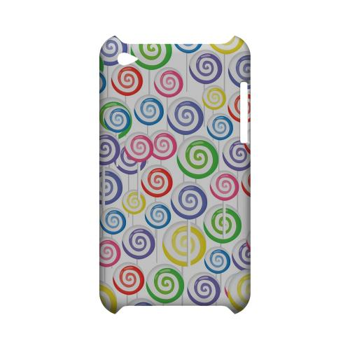 Assorted Lollipops Geeks Designer Line Candy Series Slim Hard Back Cover for Apple iPod Touch 4