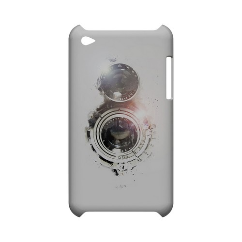 White Lens Flare - Geeks Designer Line (GDL) Retro Series Hard Back Cover for Apple iPod Touch 4