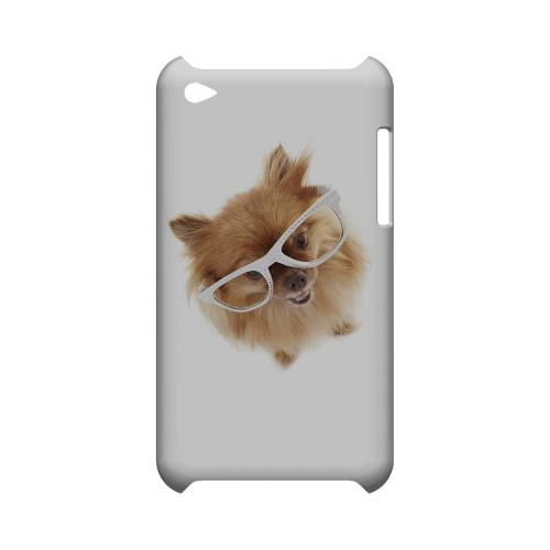 Pomeranian Geeks Designer Line Puppy Series Slim Hard Case for Apple iPod Touch 4