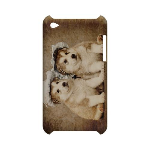 Alaskan Malamute Geeks Designer Line Puppy Series Slim Hard Case for Apple iPod Touch 4