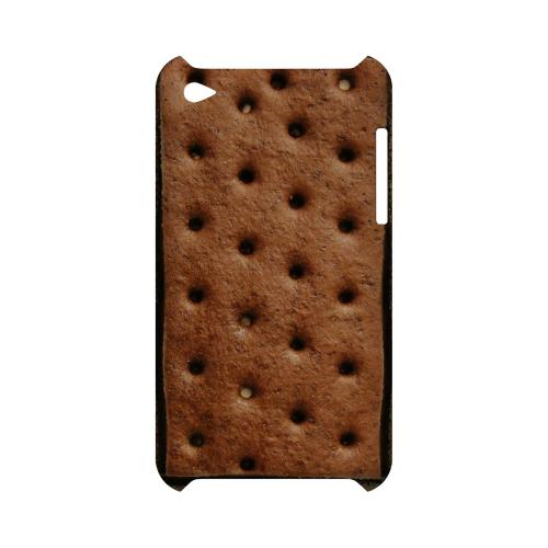 Ice Cream Sandwich Geeks Designer Line Candy Series Slim Hard Back Cover for Apple iPod Touch 4
