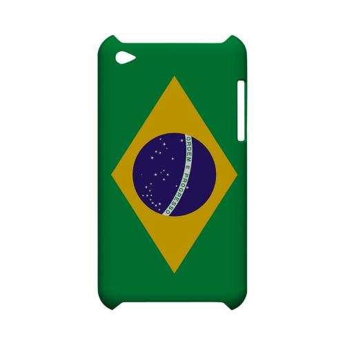 Brazil Geeks Designer Line Flag Series Slim Hard Case for Apple iPod Touch 4