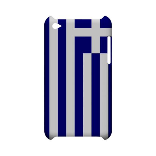 Greece Geeks Designer Line Flag Series Slim Hard Case for Apple iPod Touch 4