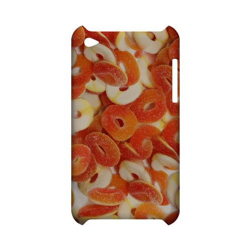 Orange/White Gummy Rings Geeks Designer Line Candy Series Slim Hard Back Cover for Apple iPod Touch 4