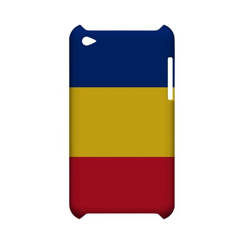 Romania Geeks Designer Line Flag Series Slim Hard Case for Apple iPod Touch 4