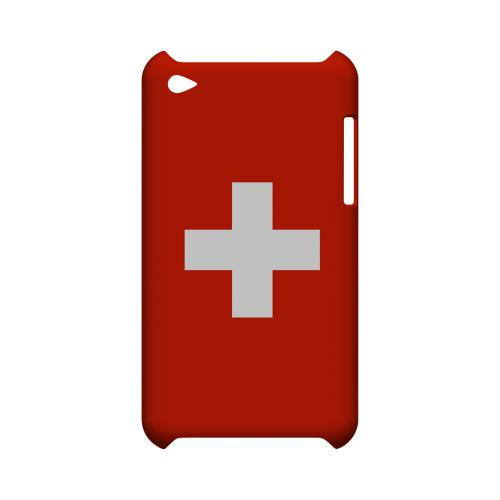 Switzerland Geeks Designer Line Flag Series Slim Hard Case for Apple iPod Touch 4