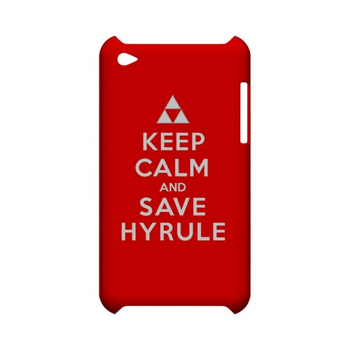 Red Save Hyrule Geeks Designer Line Keep Calm Series Slim Hard Case for Apple iPod Touch 4