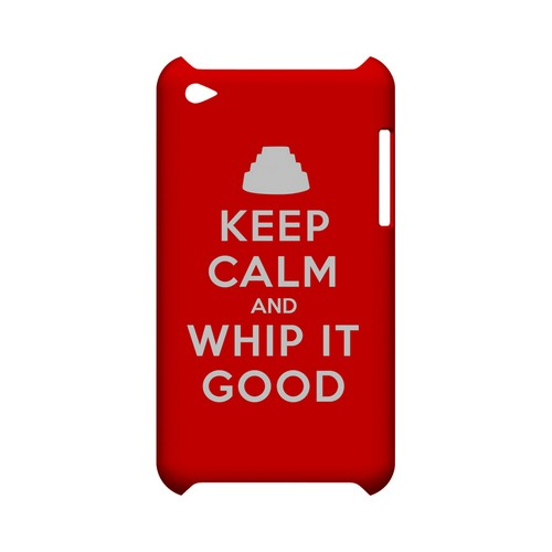 Red Whip It Good Geeks Designer Line Keep Calm Series Slim Hard Case for Apple iPod Touch 4