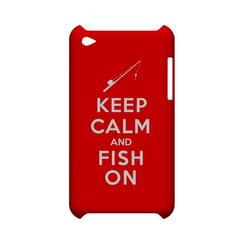 Red Fish On Geeks Designer Line Keep Calm Series Slim Hard Case for Apple iPod Touch 4