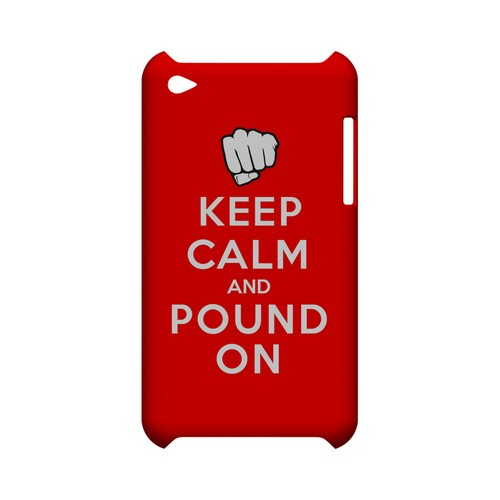 Red Pound On Geeks Designer Line Keep Calm Series Slim Hard Case for Apple iPod Touch 4