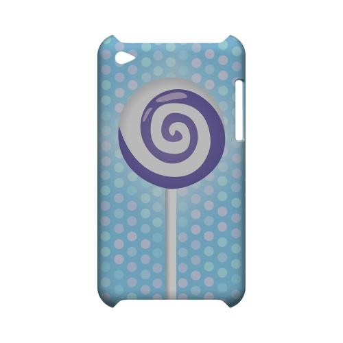 Purple Lollipop Geeks Designer Line Candy Series Slim Hard Back Cover for Apple iPod Touch 4