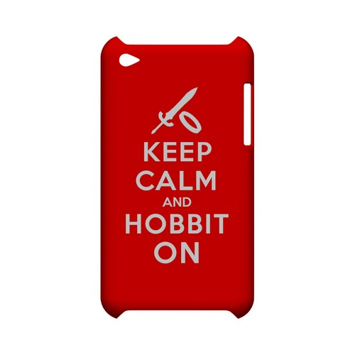 Red Hobbit On Geeks Designer Line Keep Calm Series Slim Hard Case for Apple iPod Touch 4