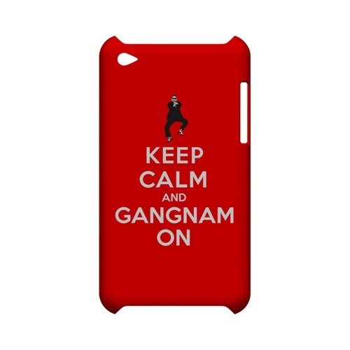 Red Gangnam On Geeks Designer Line Keep Calm Series Slim Hard Case for Apple iPod Touch 4
