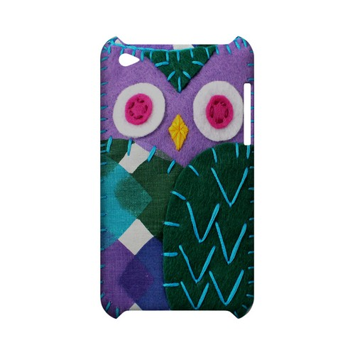 Purple/ Green Owl Geek Nation Program Exclusive Jodie Rackley Series Hard Case for Apple iPod Touch 4