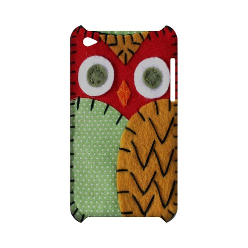 Red/ Orange Owl Geek Nation Program Exclusive Jodie Rackley Series Hard Case for Apple iPod Touch 4