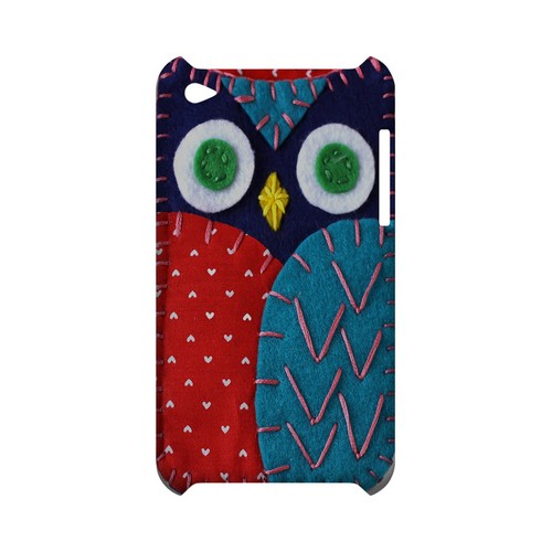 Dark Blue/ Red Owl Geek Nation Program Exclusive Jodie Rackley Series Hard Case for Apple iPod Touch 4
