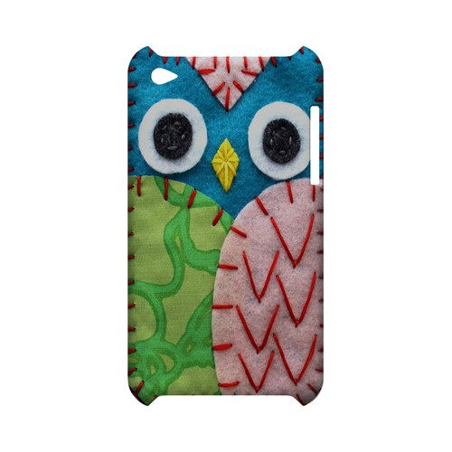 Blue/ Green Owl Geek Nation Program Exclusive Jodie Rackley Series Hard Case for Apple iPod Touch 4