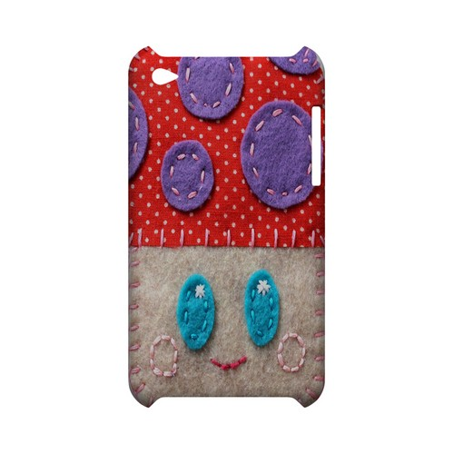 Red/ Purple Mushroom Geek Nation Program Exclusive Jodie Rackley Series Hard Case for Apple iPod Touch 4