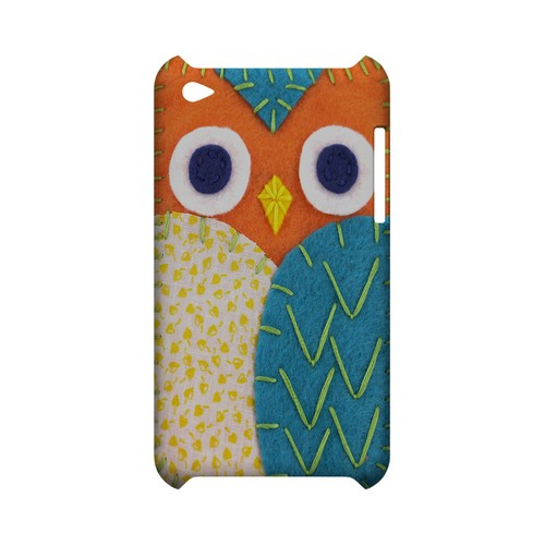 Orange/ Blue Owl Geek Nation Program Exclusive Jodie Rackley Series Hard Case for Apple iPod Touch 4