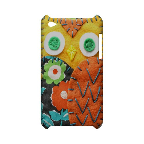 Yellow/ Orange Owl Geek Nation Program Exclusive Jodie Rackley Series Hard Case for Apple iPod Touch 4
