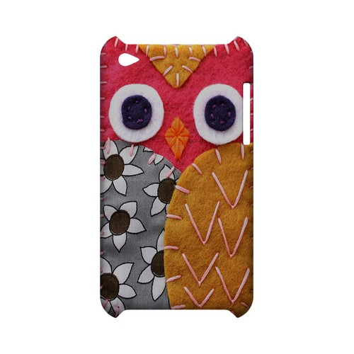 Hot Pink/ Dark Blue Owl Geek Nation Program Exclusive Jodie Rackley Series Hard Case for Apple iPod Touch 4