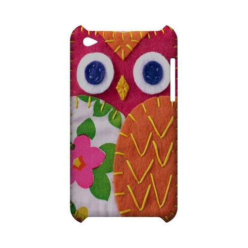 Hot Pink/ Green Owl Geek Nation Program Exclusive Jodie Rackley Series Hard Case for Apple iPod Touch 4