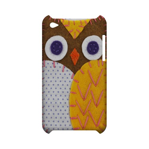 Brown/ Orange Owl Geek Nation Program Exclusive Jodie Rackley Series Hard Case for Apple iPod Touch 4