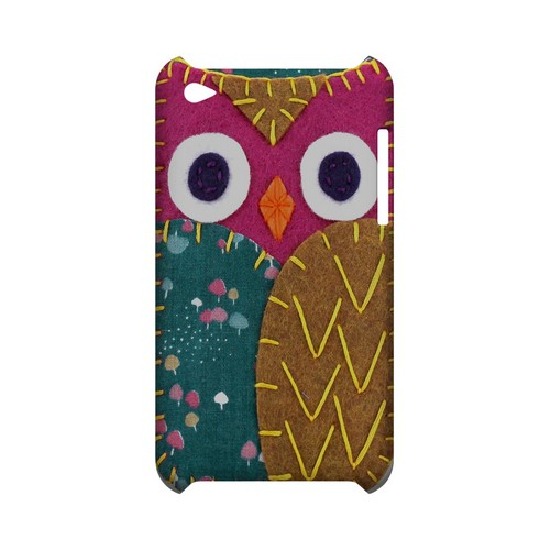 Hot Pink/ Brown Owl Geek Nation Program Exclusive Jodie Rackley Series Hard Case for Apple iPod Touch 4