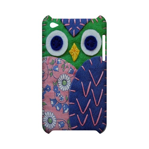Green/ Blue Owl Geek Nation Program Exclusive Jodie Rackley Series Hard Case for Apple iPod Touch 4
