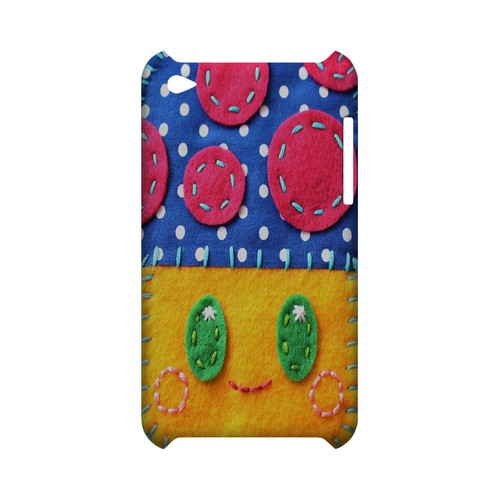 Blue/ Yellow Mushroom Geek Nation Program Exclusive Jodie Rackley Series Hard Case for Apple iPod Touch 4