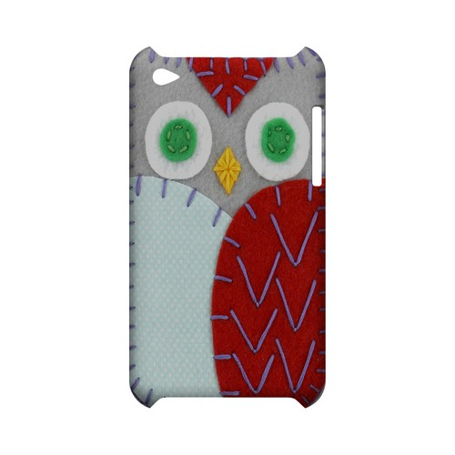 Gray/ Red Owl Geek Nation Program Exclusive Jodie Rackley Series Hard Case for Apple iPod Touch 4