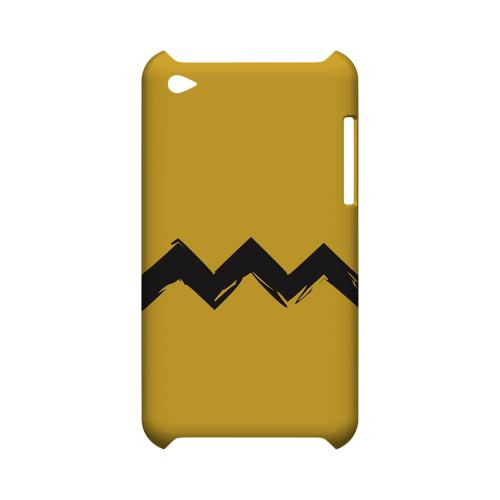 Yellow Good Grief! Geeks Designer Line Zig Zag Series Slim Hard Case for Apple iPod Touch 4