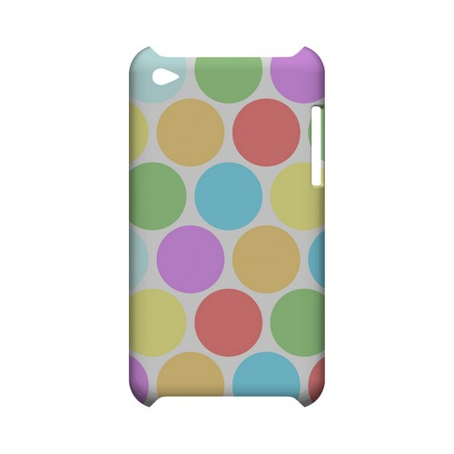 Big & Rainbow on White Geeks Designer Line Polka Dot Series Slim Hard Case for Apple iPod Touch 4