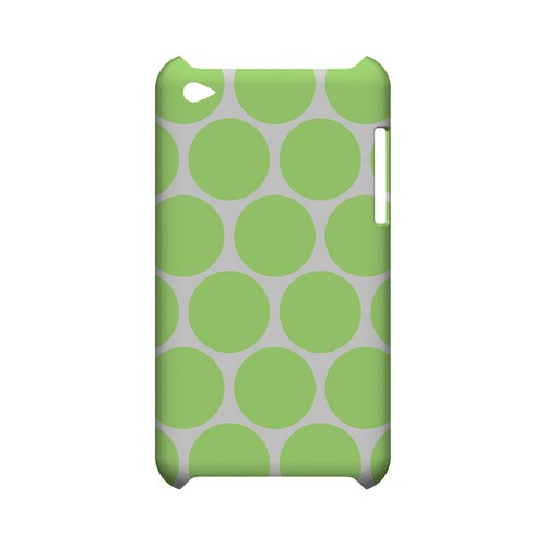 Big & Lime Green Geeks Designer Line Polka Dot Series Slim Hard Case for Apple iPod Touch 4