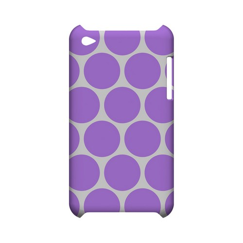 Big & Purple Geeks Designer Line Polka Dot Series Slim Hard Case for Apple iPod Touch 4